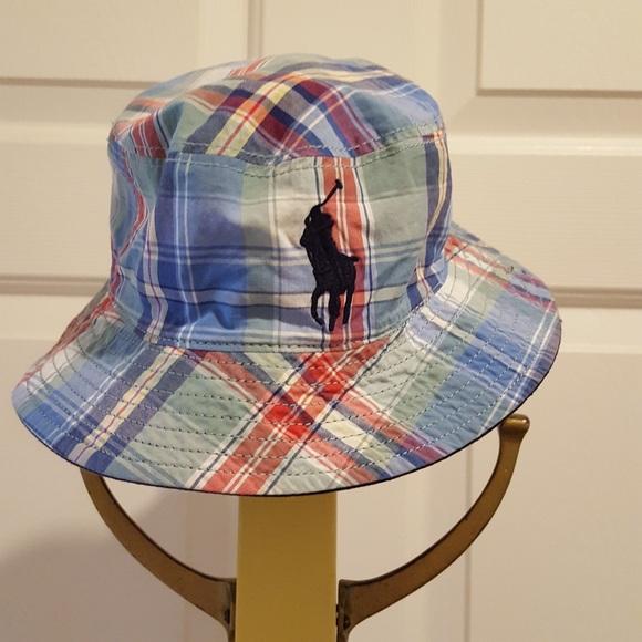 e08a9d0e62441 Ralph Lauren Toddler Madras Reversible Sun Hat. M 5aef968172ea88326d9aa694